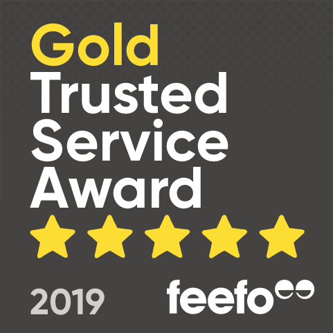 FEEFO GOLD TRUSTED SERVICE AWARD 2019