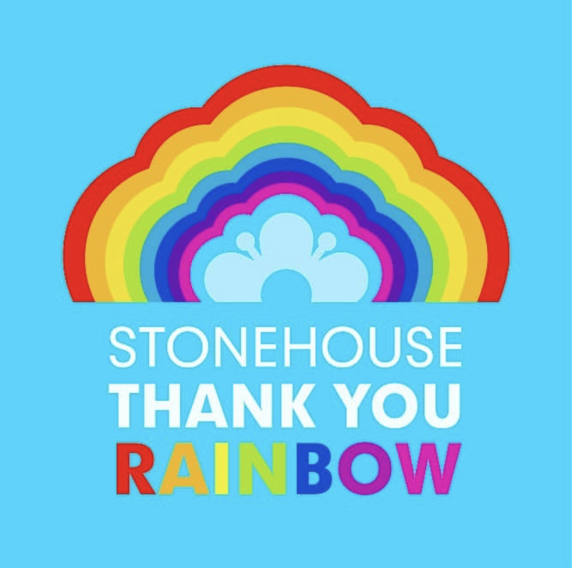 A rainbow of thank yous in Stonehouse
