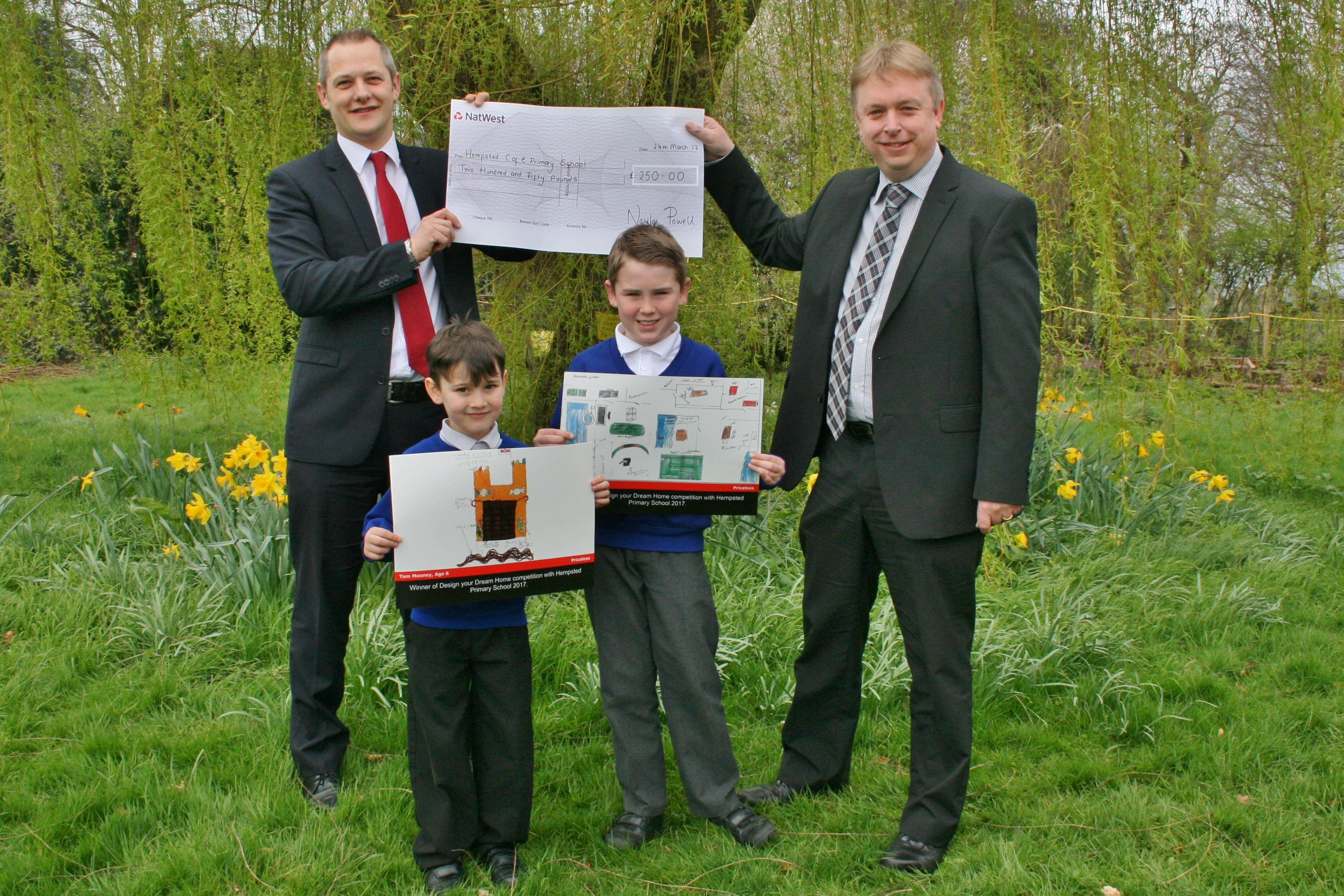 Budding architects in Hempsted School